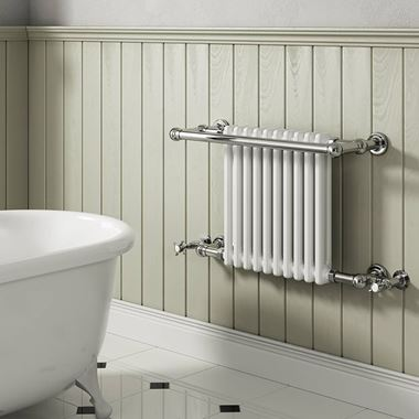 Reina Camden Traditional Steel Wall Mounted Heated Towel Rail